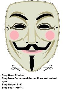 paper Guy Fawkes mask