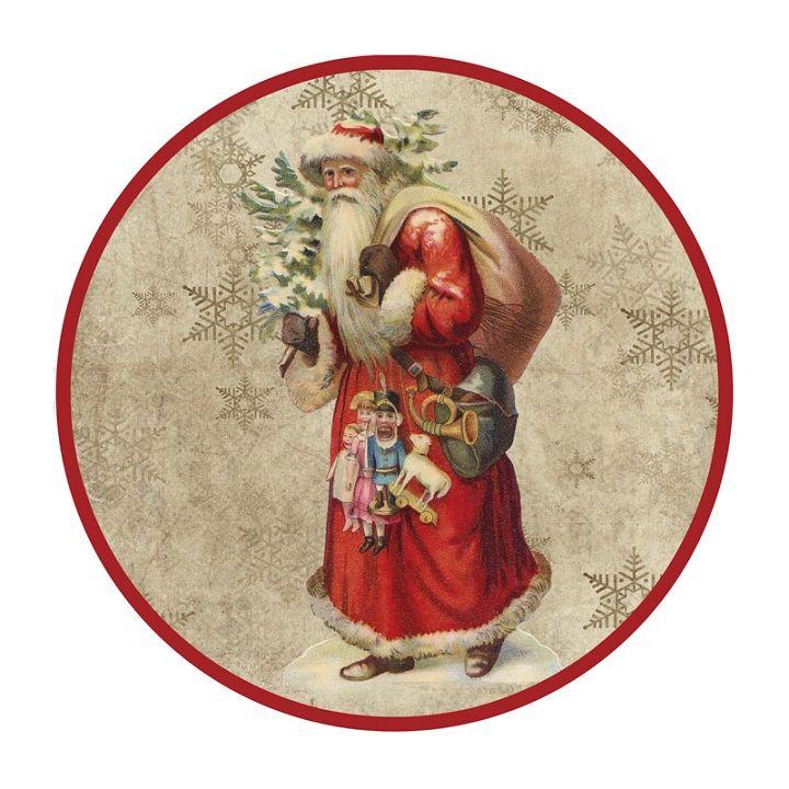 VINTAGE RETRO CHRISTMAS ROUND BETH ALBERT