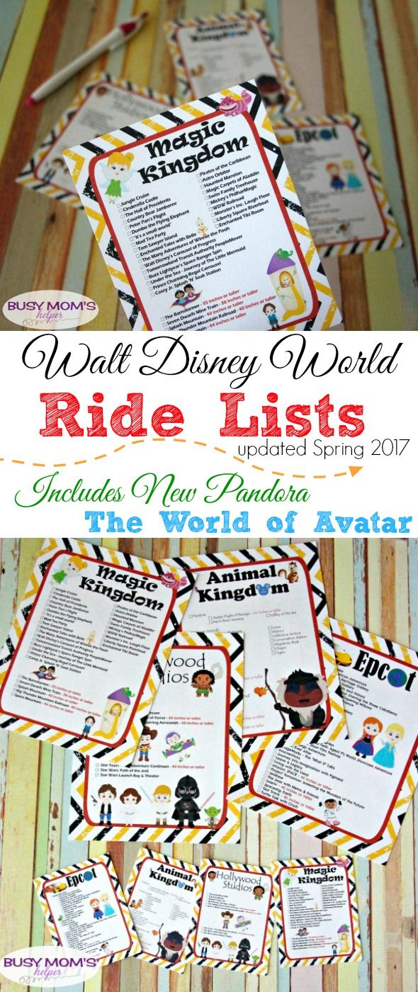 Updated walt disney world ride lists