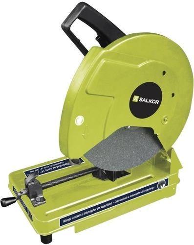 sierra sensitiva cortadora ingletadora salkor 2,5hp 355mm