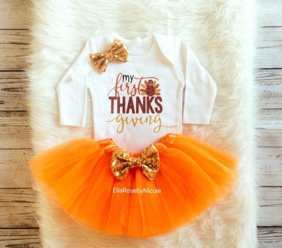843c33b59 My First Thanksgiving Outfit / Baby Girl 1st Thanksgiving Bodysuit / Baby  Girl Thanksgiving Bodysuit