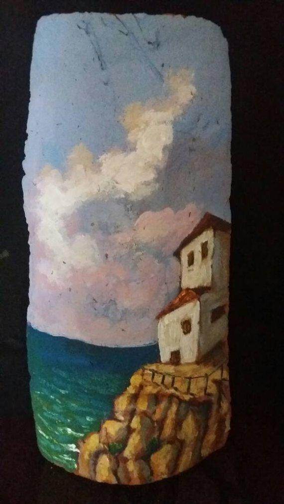 Acrylic Painting landscape on 19th century by ArcadiaEgoStudios