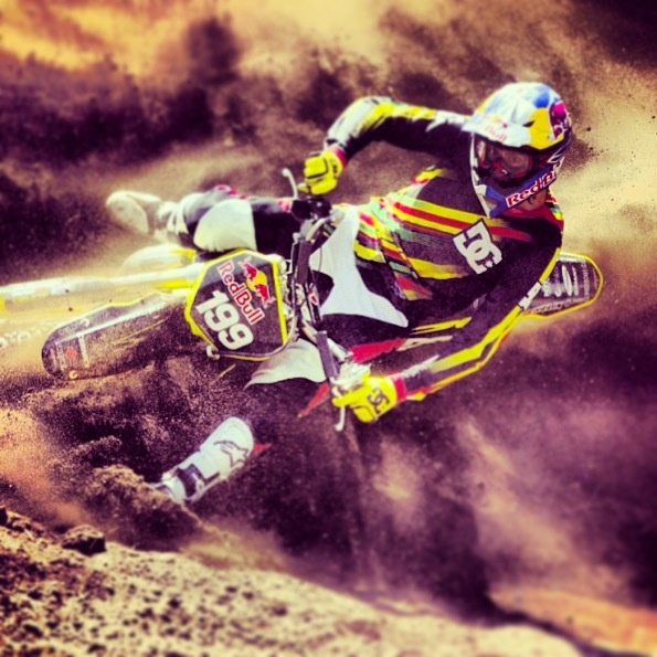 Travis pastrana!! love this guy he's got some sick skills and talent! He seems like a very genuine guy ✌