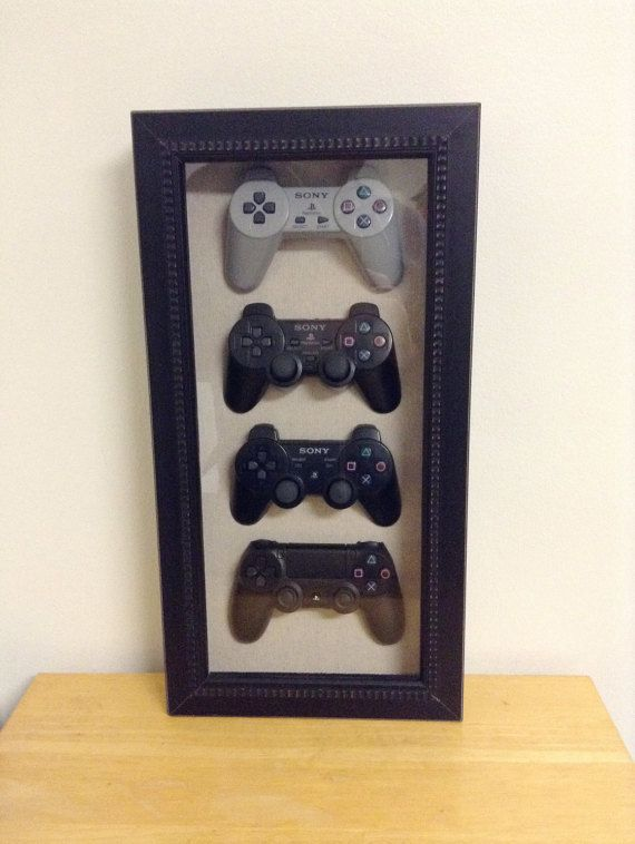 Playstation 4 3 2 1 History Decor Shadow Box by Woody6Switch