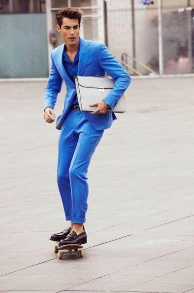 メンズ, 10〜30代, スーツ, ブルー,