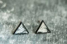 Tiny stud earrings, minimalist earrings, black earrings for men or just stud earrings - it is doesnt matter what kind of earring it is when we are