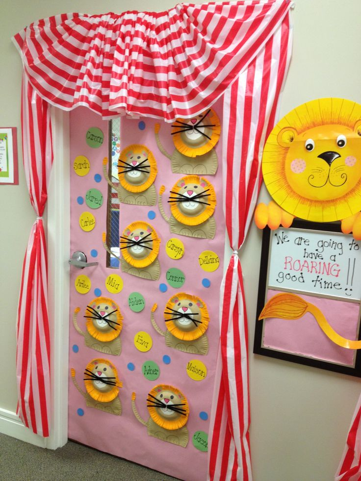 Classroom Decorations For April ~ Back to school carnival theme at temple preschool new bern