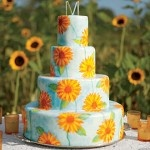 Wedding Cake Mondays: Sunflower Wedding Cakes