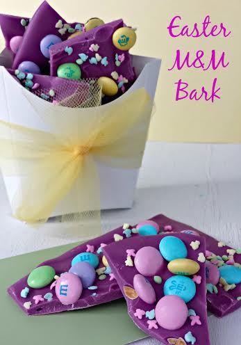 Purple #Easter M&M Bark