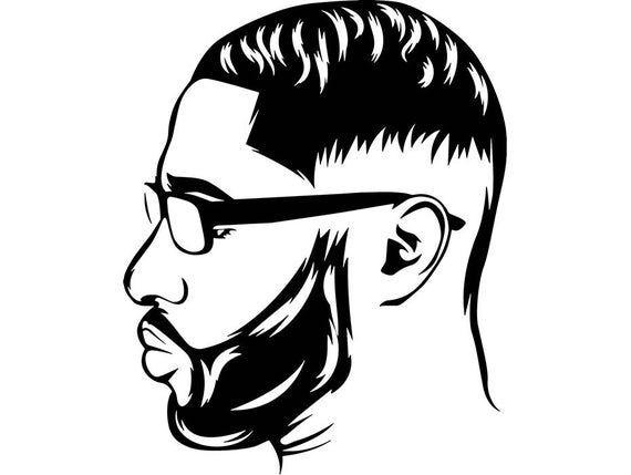 Beard King Man Life Respect Quotes Boss Kingdom Afro Hair African American Male Svg Eps Png Vecto Beard King Silhouette Face African American Hairstyles