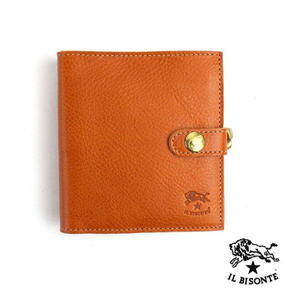 IL BISONTE(イルビゾンテ) レザー がま口コインケース 二つ折り 財布・5452300440 #ILBISONTE
