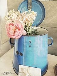 Vintage Frans blauw