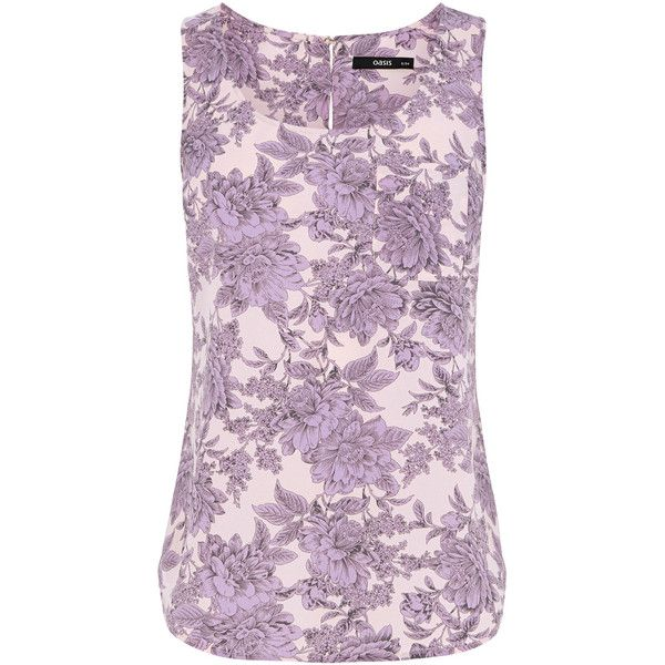 OASIS Provence Floral Vest (430 RUB) ❤ liked on Polyvore featuring outerwear, vests, purple, purple waistcoat, vest waistcoat, purple denim vest, floral vest and denim vest