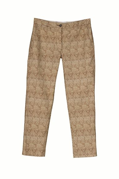 NORIKO straight pant in printed cotton piquet (style is for brave)