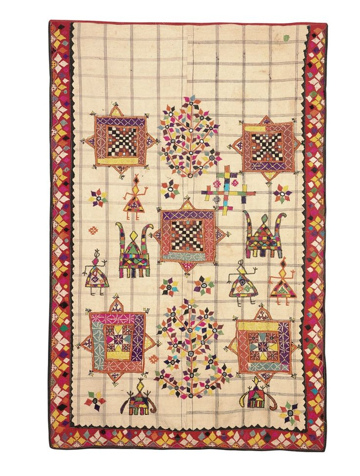 Indoor Outdoor Rug Buy Multicolor Vintage Hand Embroidered Wall Hanging From East Kutch Gujarat in X in