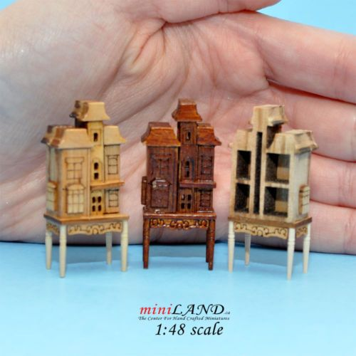 """1:48 1/4"""" quarter scale Victorian dollhouse for dollhouse Top quality Pine"""