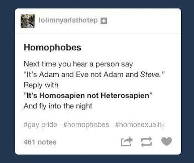 When this swift exit was taken: | 17 Times Queer Tumblr Totally Owned 2014