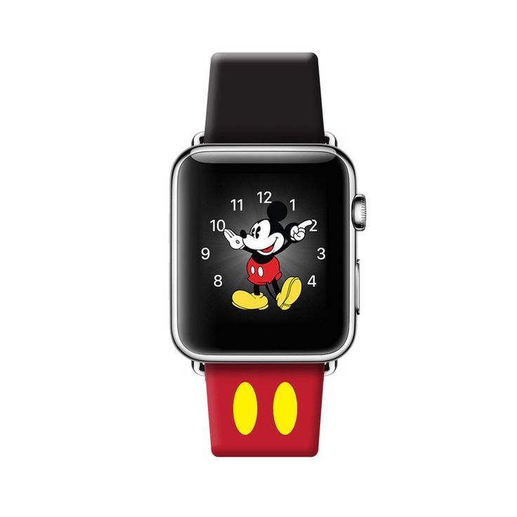 Mickey Apple Watch Strap Band ( 38 mm , 42 mm ) The Design is inspired by Mickey :) Band Material: 100% real , thin, soft , durable leather. Adapter Material: High Quality Stainless Steel / Space Grey