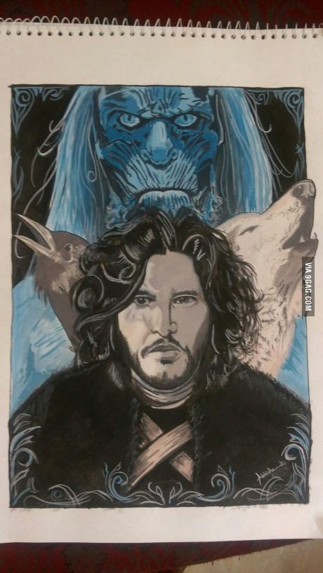 Tried painting a GoT based poster... What do you guys think?