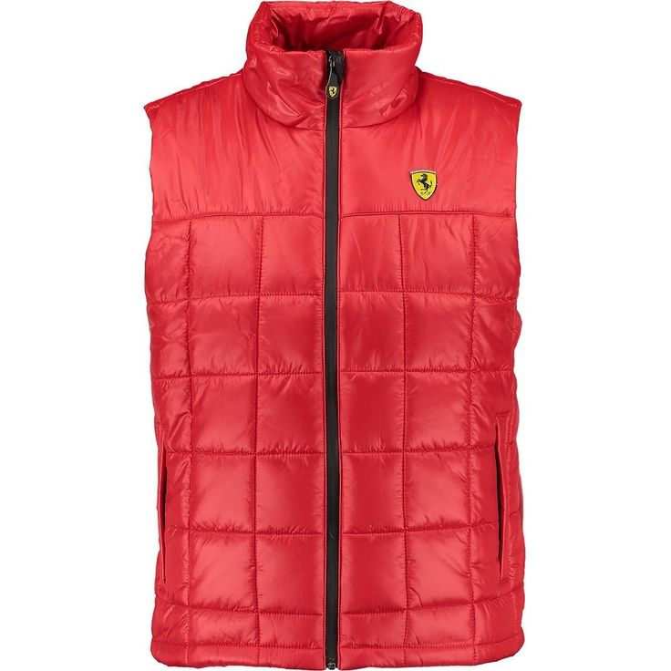 Ferrari Gilet Jacket Mens XXL Red Body Warmer New Tag Authentic