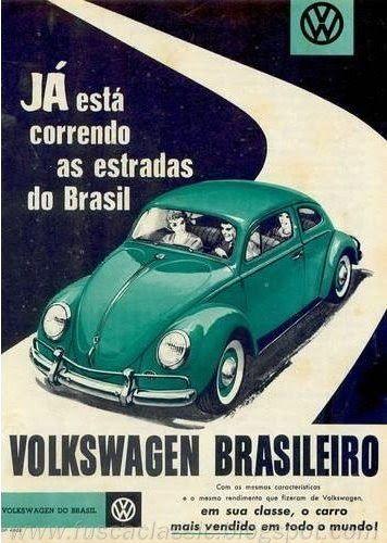"""ANOS DOURADOS: IMAGENS & FATOS: IMAGENS - Anúncio: """"Volkswagen"""""""