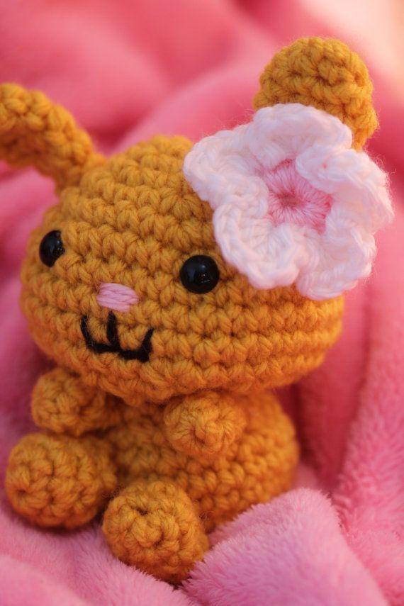 Sakura Bunny / Fuzzy Sakura Bear by TotaCreations on Etsy, $10.00