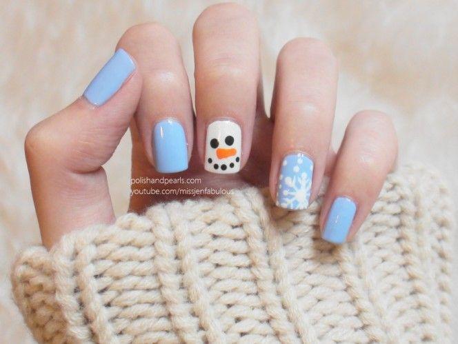 Snowman Nails - Polish and Pearls