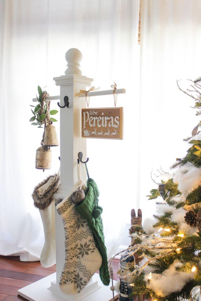 DIY stocking Post