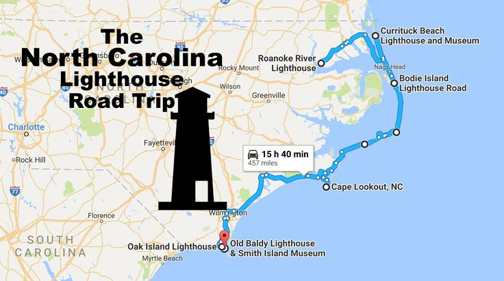 The Lighthouse Road Trip On The North Carolina Coast That's Dreamily Beautiful