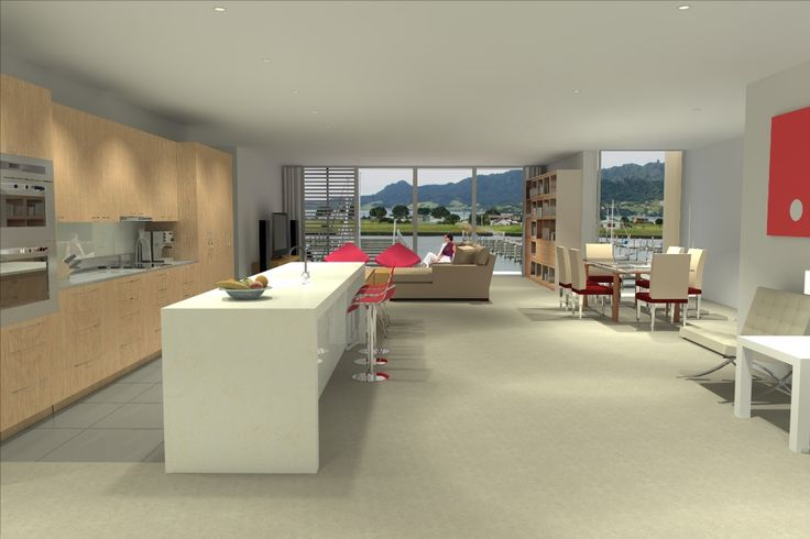 Interior visual of Marina Views apartments at Marsden Cove - image created by Nick Hindson