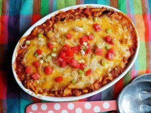 """Chicken Tostada Casserole 