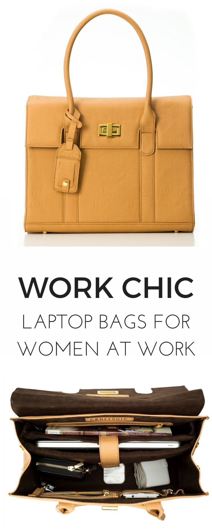 The perfect laptop bags that look like purses! This tote is a must-have for women that need to be organized on-the-go.