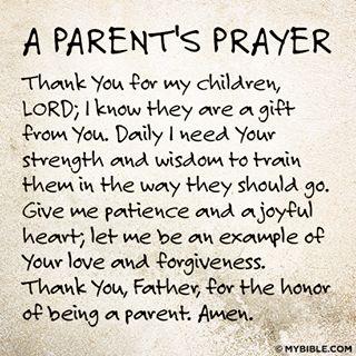 A parent's prayer...