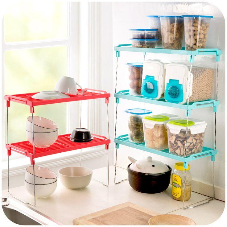 Organizeaza-ti bucataria folosind rafturi de plastic