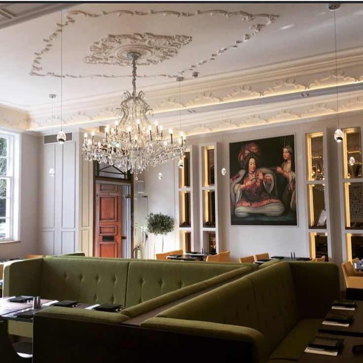 Beautiful feature ceiling, cornices and ceiling rose for this London  restaurant.
