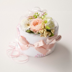 Diaper cake with aden+anais products/ by Pannolini (Japan)