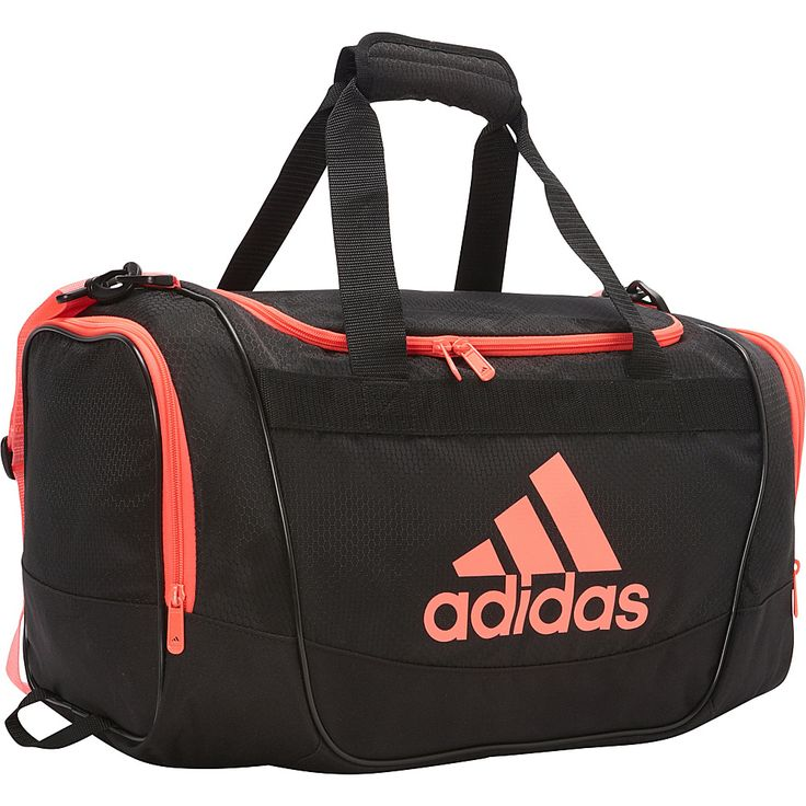 Image of adidas Defender II Small Duffel Black/Flash Red - adidas All Purpose Duffels