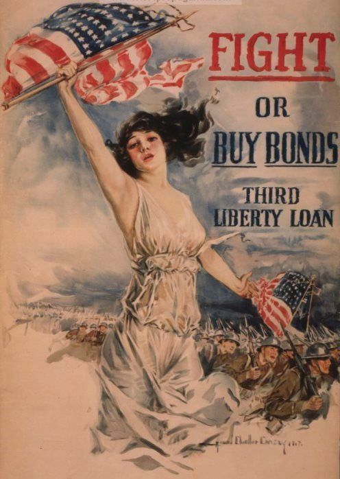 Christy, Howard Chandler (b,1873)- Fight or Buy Bonds (Prop- US- WWI)