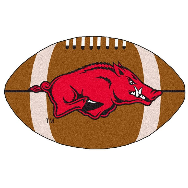 Fanmats Arkansas Razorbacks Football Rug, Brown