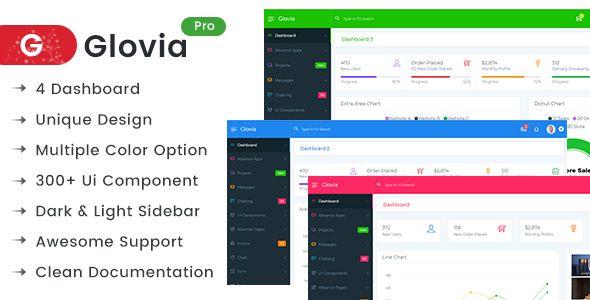 Glovia The Ultimate Powerful Bootstrap 4 Admin Dashboard Template Columns 2 Admin Admin Press Admin Templ Dashboard Template Html Website Templates Templates