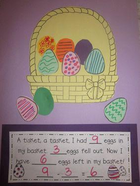 """""""A Tisket, A Tasket"""": Easter Basket Subtraction Craftivity"""