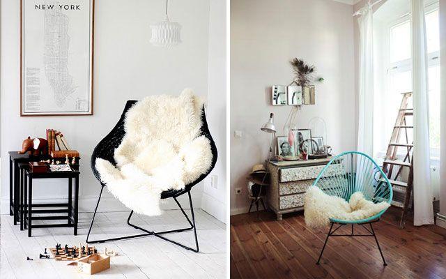 Decofilia Blog | Decoración de asientos con piel de oveja