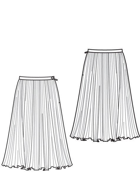 pleated circle skirt pattern burdastyle sewing ideas