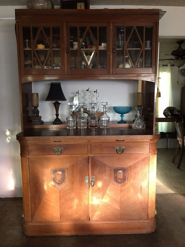 Art Deco Built In Cabinet Buffet Cupboard For Sale In Santa Barbara Ca Offerup Cupboards For Sale Used Furniture For Sale Built In Cabinets