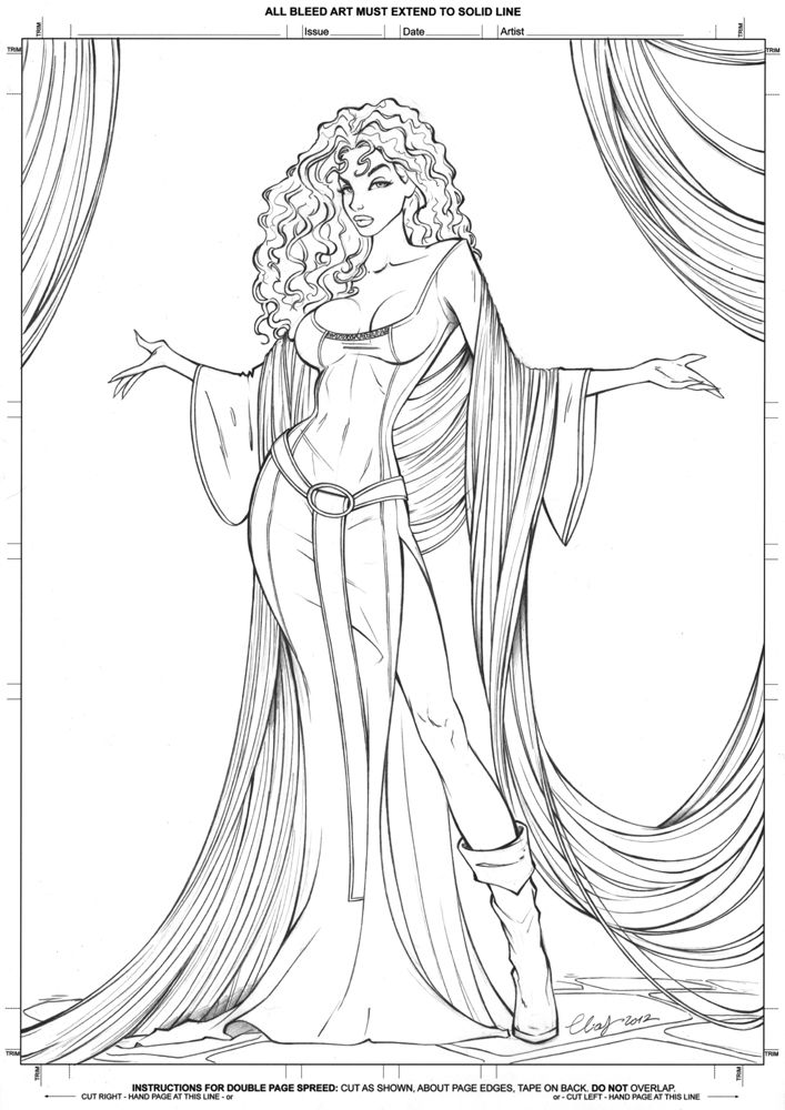 Mother Gothel Lines Pencils See The Colored Version