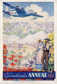 Vintage Reproduction Poster Print - Cover from The Queenslander Annual 1938 - Brisbane Past and Present | State Library of Queensland Shop