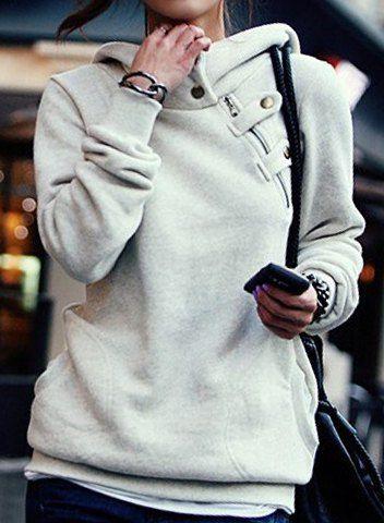 Side Pockets Design Long Sleeve Loose Women's HoodieSweatshirts & Hoodies | RoseGal.com