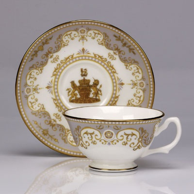 Royal Worcester Royal Wedding Teacup and Saucer to celebrate the wedding of Prince William to Catherine Middleton