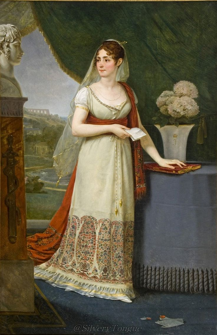 Josephine Tasher de la Pagerie, Empress of France - Baron Antoine Jean Gros circa 1808. Oil on canvas. Musee d'Art et d'Histoire, Palais Massena, Nice, France.