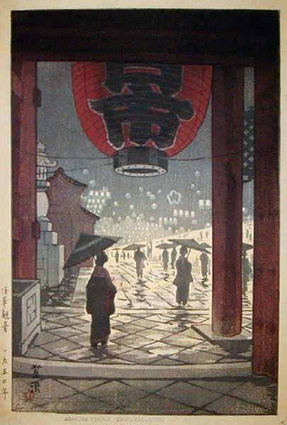 Sensoji Temple, Asakusa by Shiro Kasamatsu ~Repinned Via Patty Flagler